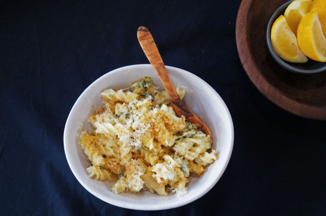 A creamy slow-cooked zucchini pasta bake