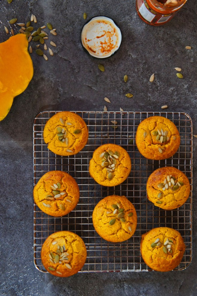 Deliciously savoury pumpkin muffins with a hint of curry flavour