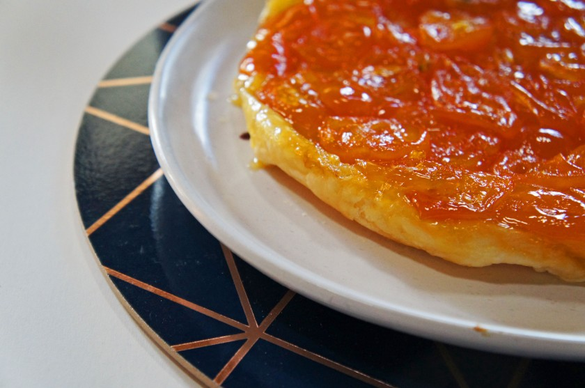 Sweet, sticky candied cumquat tarte tatin