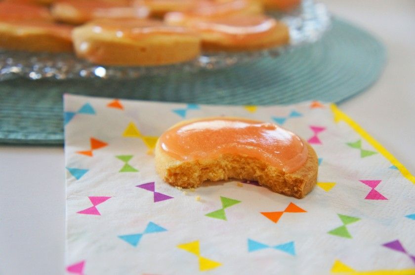 A tangy grapefruit shortbread with a sticky marshmallow icing