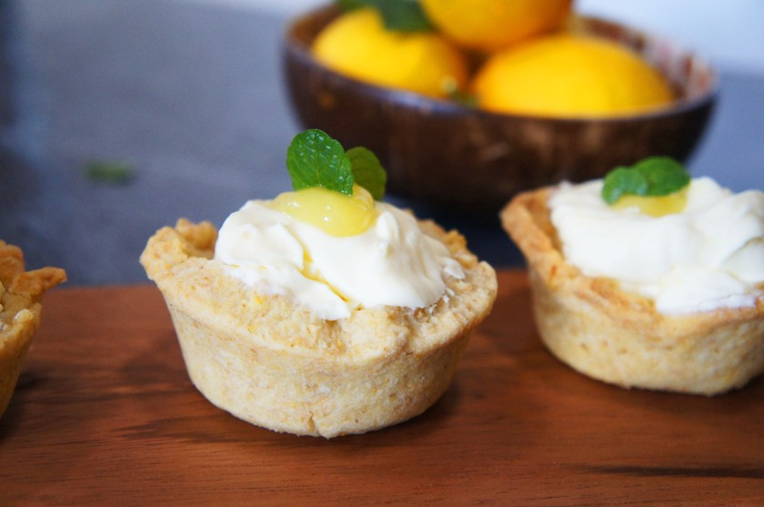 A tangy zesty cream tart filled with lemon and elderflower