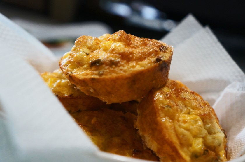 A simple tuna and sweetcorn muffin to ward away the munchies